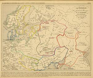 White Croatia - Image: Polska Rosja Skandynawia w IX w