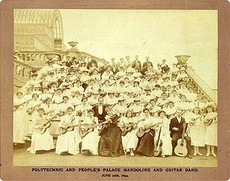 Mandolin orchestra - Mandolin orchestra at the Crystal Palace, 1899.