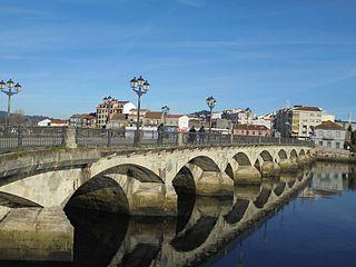 Burgo Bridge Stone arch bridge in Pontevedra, Spain