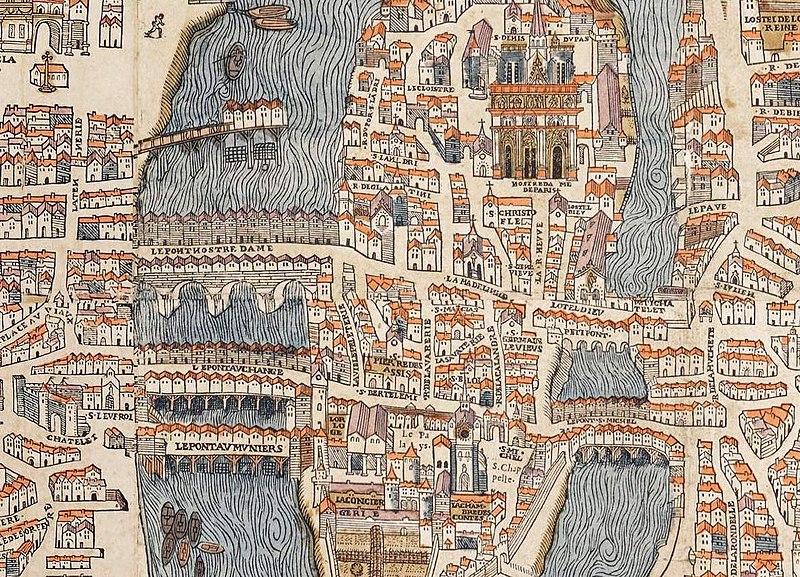 Fichier:Ponts de l'ile de la Cité (1550).jpg