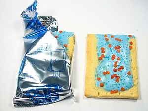 Blue-tinted pop tart
