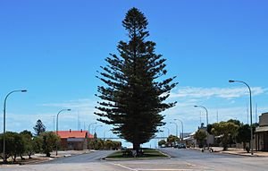Port Victoria, South Australia - Main street looking towards Spencer Gulf