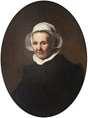 Portrait of an Old Lady in a White Cap (possibly Aeltje Pietersdr. Uylenburgh, c.1570–1644, the wife of Johannes Cornelisz. Sylvius, 1564–1638)