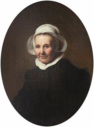 Portrait of a 62-year-old Woman, possibly Aeltje Pietersdr Uylenburgh - Image: Portrait of an Old Lady in a White Cap (possibly Aeltje Pietersdr. Uylenburgh, c.1570–1644, the wife of Johannes Cornelisz. Sylvius, 1564–1638) NTIII FEL 1401199