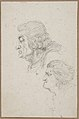 Portraits of Jean-Baptiste-Joseph Gobel (1727-1794), Bishop of Paris in 1792-93, and Pierre-Gaspard Chaumette (1763-1794), Procurator of the Commune in 1792, sketched on the way to the guillotine, April 12, 1794. MET DP810324.jpg