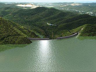 Portugués Dam - Artistic rendering of Portugues Dam