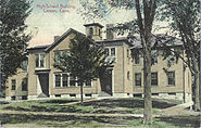 PostcardHighSchoolBldgCanaanCT1910