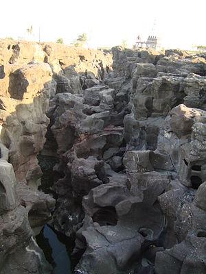Shirur, Maharashtra - Potholes near Nighoj