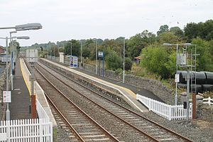 Poyntzpass railway station - Poyntzpass, as seen from the signal cabin