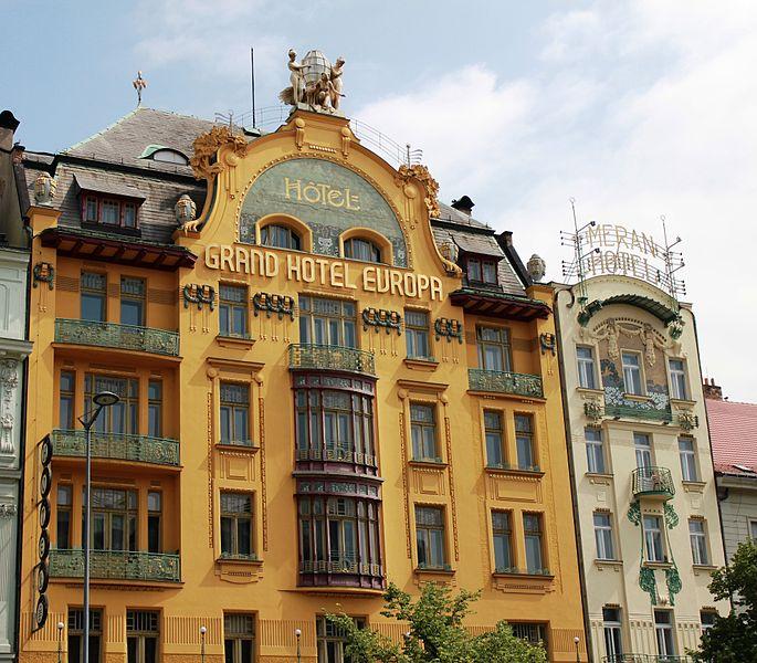 File:Prague Praha 2014 Holmstad Grand Hotel Europa og Hotel Meran.jpg