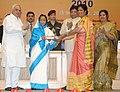 Pratibha Devisingh Patil presenting the National Award for Teacher-2010 to Smt. Anita Chhetri, Uttarakhand, on the occasion of the 'Teacher's Day', in New Delhi. The Union Minister of Human Resource Development.jpg