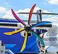 Pratt & Whitney Canada PW127M on Air New Zealand ATR 72-600 ZK-MVG (then F-WWEQ) at 2015 Paris Air Show.jpg