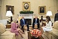 President Donald Trump and First Lady Melania Trump sit with Israeli Prime Minister Benjamin Netanyahu of Israel and his wife, Mrs. Sara Netanyahu.jpg