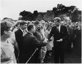 President greets Peace Corps Volunteers. White House, South Lawn. - NARA - 194180.tif