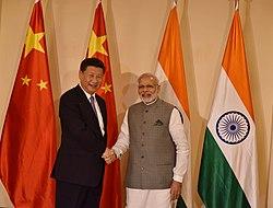 Prime Minister Narendra Modi meeting with President Xi Jinping, 2016.jpg