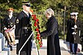 Prime Minister of the United Kingdom Theresa May visits Arlington National Cemetery (32434223131).jpg