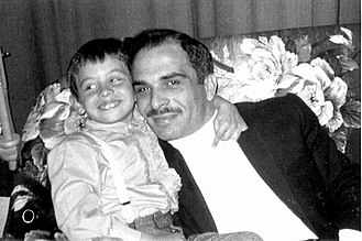 Abdullah II of Jordan - Abdullah (age six) and his father, King Hussein, on 7 August 1968