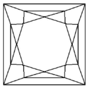 Princess cut - Princess cut diagram