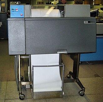 """IBM 1403 - IBM 1403 in the """"Haus zur Geschichte der IBM Datenverarbeitung"""" museum, Sindelfingen, Germany"""