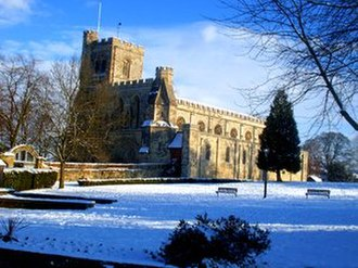 Dunstable Priory - Dunstable Priory Church in winter