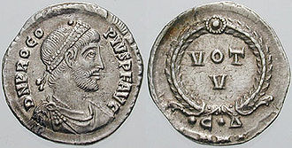 Procopius (usurper) - Coin issued by Procopius.