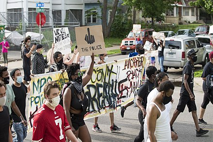 Protest march against police violence - Justice for George Floyd %2849941871086%29., From WikimediaPhotos