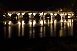 Roman bridge of Lugo - The roman bridge at night