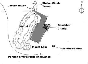 Siege of Kandahar - Kandahar and it's environs