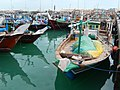 Qatar, Al Khor (15), Dhows in the harbour.JPG