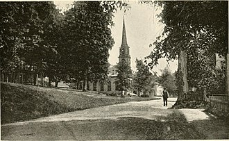Greenwich, Massachusetts - Photograph from 'The Meeting-House' depicted in Quabbin; the story of a small town with outlooks upon Puritan life by Francis H. Underwood