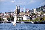 Quaibrücke - Wasserkirche - Grossmünster - Dampfschiff Stadt Rapperswil 2013-09-13 15-36-19.JPG