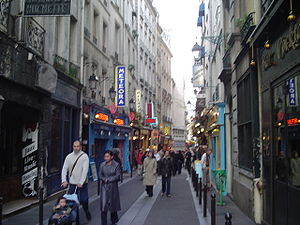 Latin Quarter, Paris - A small street in the Latin Quarter with bistros and restaurants