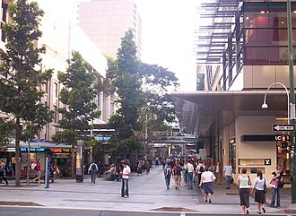 Edward Street, Brisbane - Queen Street Mall at the Edward Street and Queen Street intersection