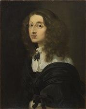 Kristina of Sweden, painting by Sébastian Bourdon