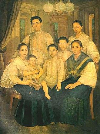 Principalía - Portrait of a Filipino Chinese family, c. 1880.