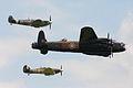 RAF BBMF Trio of Lancaster BI PA474, Hurricane IIc LF363 & Spitfire V AB910 (6649691623).jpg