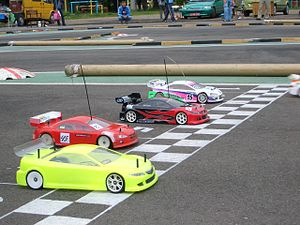 RC cars ready to start