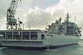 RFA Argus (A135) Aviation training - Casualty receiving ship 28,081 tonnes, Royal Navy. (11577615525).jpg