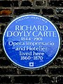 RICHARD D'OYLY CARTE 1844-1901 Opera Impresario and Hotelier lived here 1860-1870.jpg
