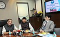 """Radha Mohan Singh addressing at the launch of the Mobile Apps """"AgriMarket and Crop Insurance"""", in New Delhi. The Minister of State for Agriculture and Farmers Welfare.jpg"""