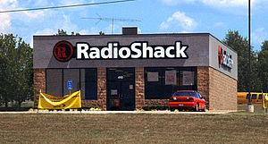 A free-standing RadioShack electronics store i...