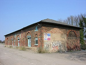 Hull–Scarborough line - Goods shed at Cottingham (2007)