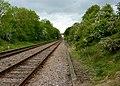 Railway line in a cutting - geograph.org.uk - 1305836.jpg