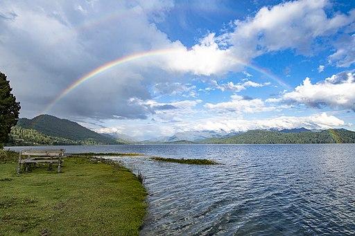 Rainbow on Rara Lake