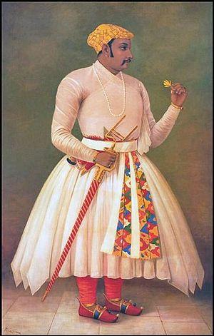 Amar Singh I - Painting of Maharana Amar Singh I by Raja Ravi Verma