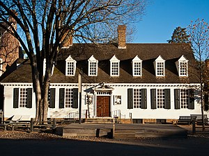 Virginia Conventions - Raleigh Tavern, Williamsburg VA, restored, First Virginia Convention meeting place, 1774