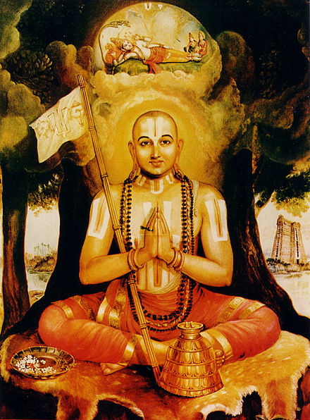Sri Ramanujacharya, pioneer of Vishishtadvaita Vedanta and the foremost Jeeyar of Sri Vaishnava Sampradaya. Ramanujacharya.jpg