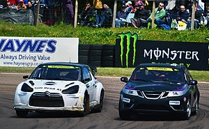 2014 World RX of Great Britain - Eric Färén and Ramona Karlsson