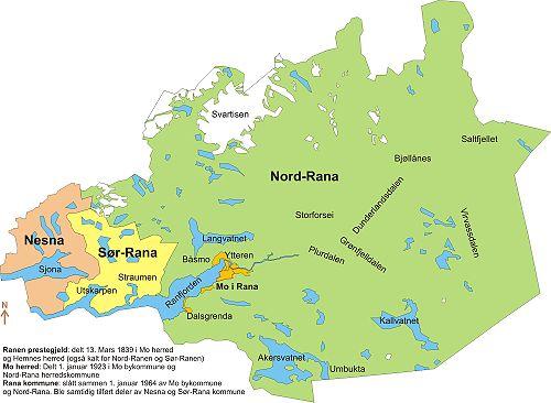 kart over mo i rana Rana – Wikipedia