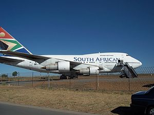 South African Airways Museum Society - The Boeing 747SP at Rand Airport